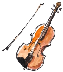 Violine, Illustration von Artur Bodenstein